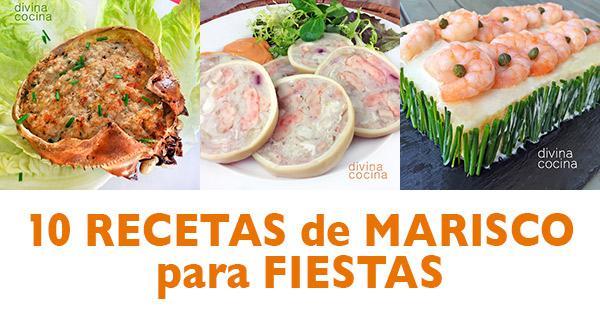 10 Recetas De Marisco Para Fiestas Divina Cocina