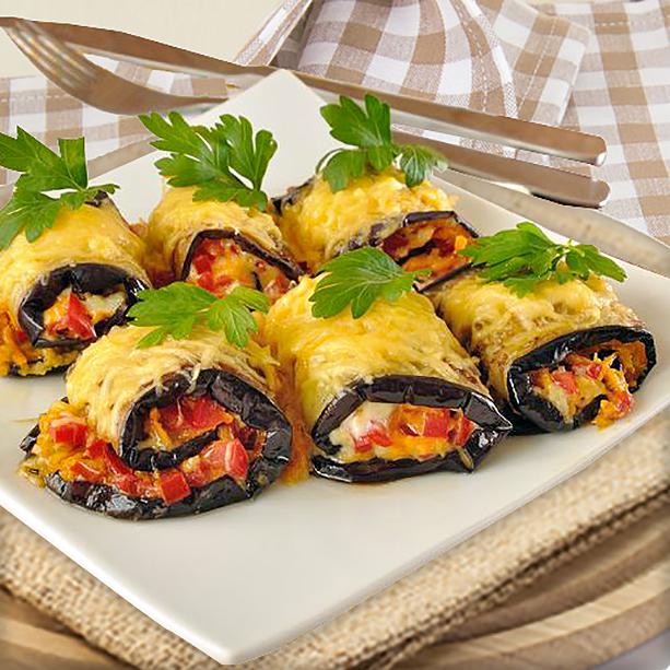 Receta de rollitos de berenjena al horno divina cocina - Berenjenas rellenas al horno ...
