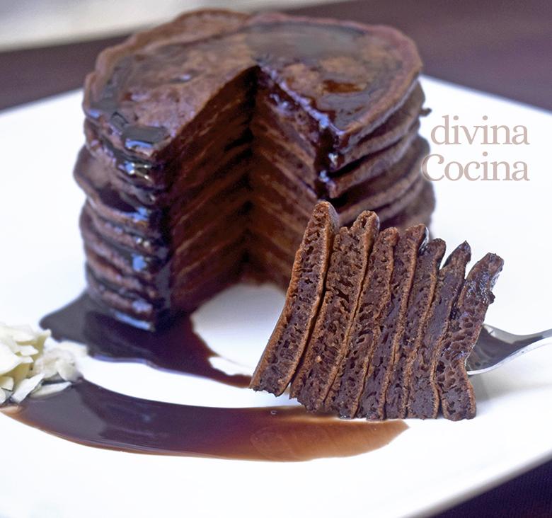 receta de tortitas de chocolate