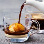 Affogato italiano de café
