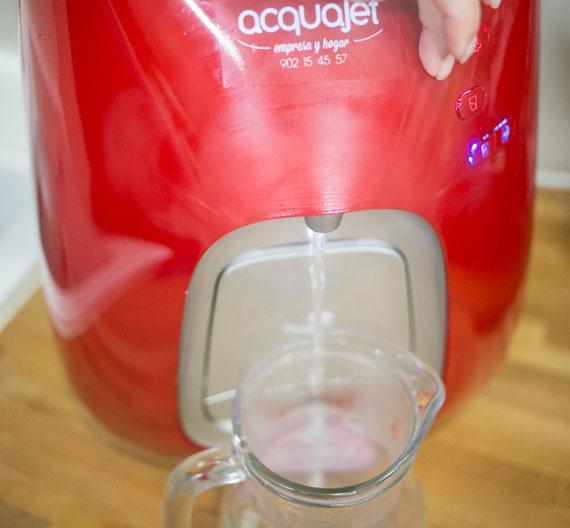 Cocinando con agua filtrada