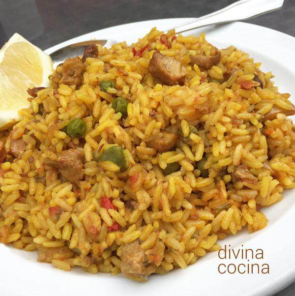 Como preparar un arroz amarillo sencillo