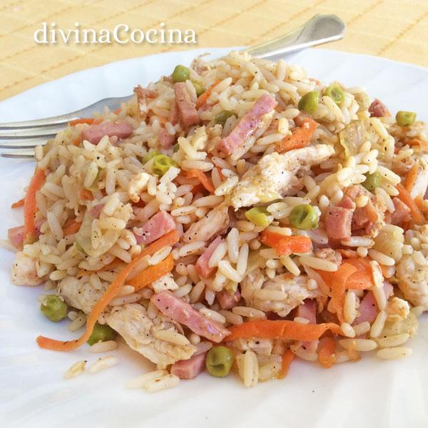 arroz chino con pollo