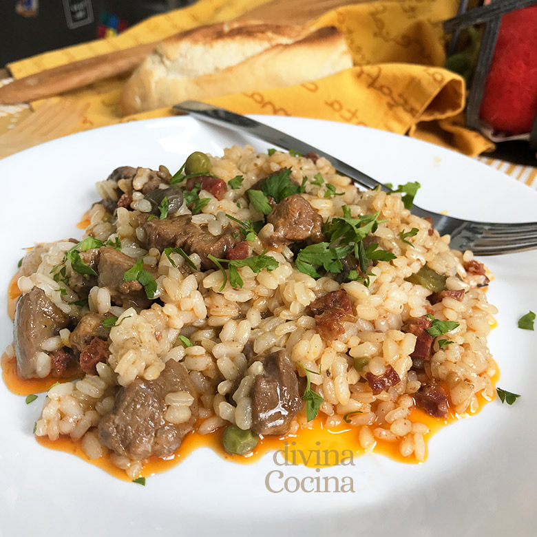 arroz con carrillada de cerdo
