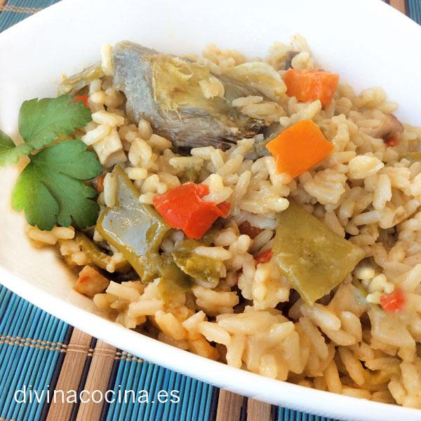 arroz con verduras
