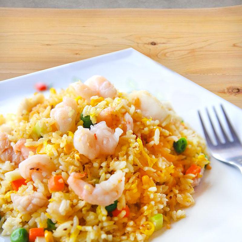 receta de arroz frito al curry