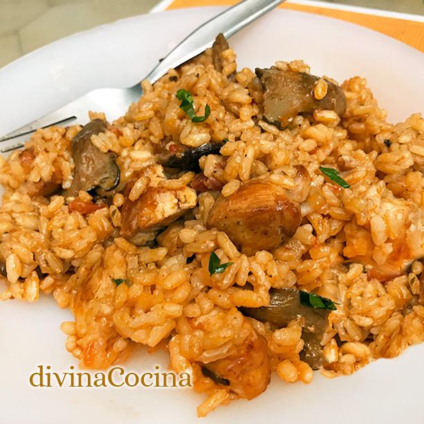 arroz pollo setas 3