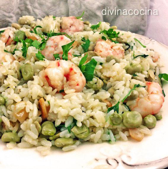 Receta de arroz salteado con gambas al ajillo divina cocina - Salteado de arroz ...