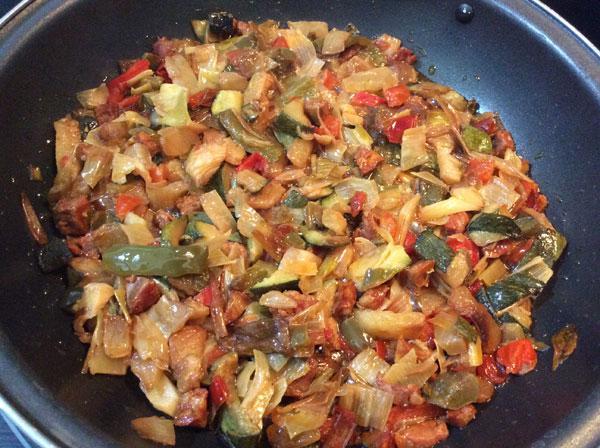 Arroz salteado con verduras detalle