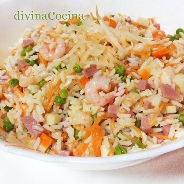 receta de arroz tres delicias chino divina cocina