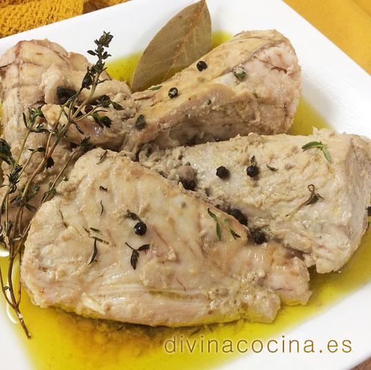 atun confitado en aceite de oliva