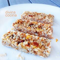 barritas de cereales caseras - Divina Cocina