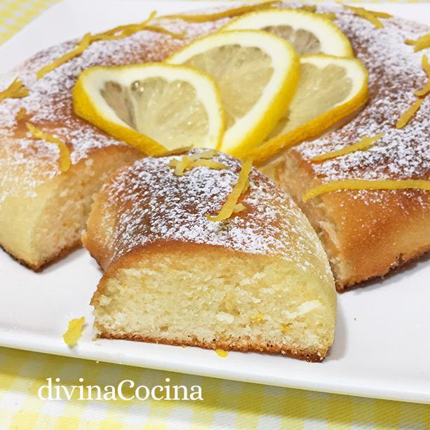 bizcocho limon microondas porcion