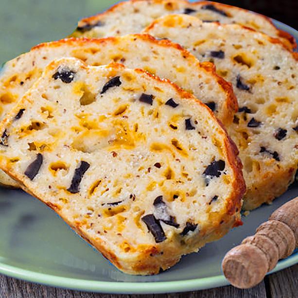 cake salado queso aceitunas