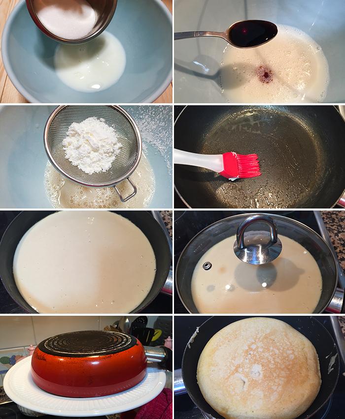 bizcocho sin horno sarten paso a paso