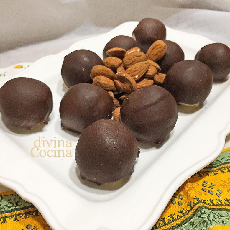 bolitas de mazapan chocolate
