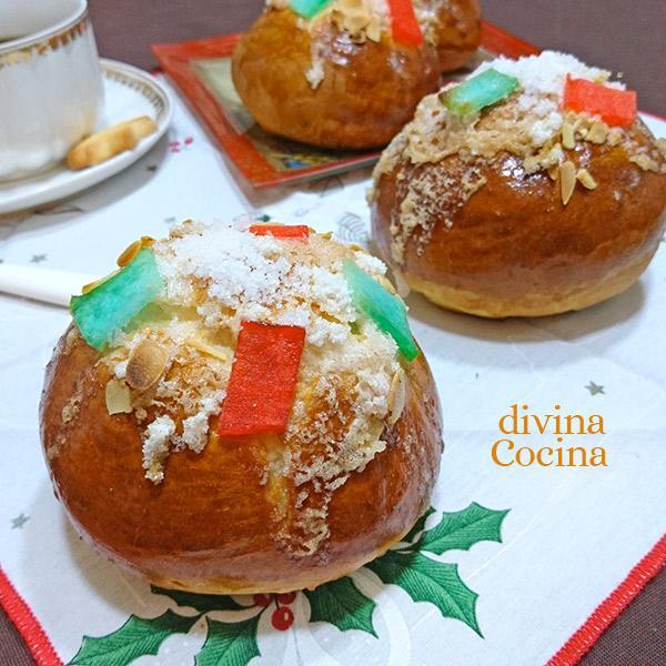 receta de navidad de bollitos de roscon de reyes