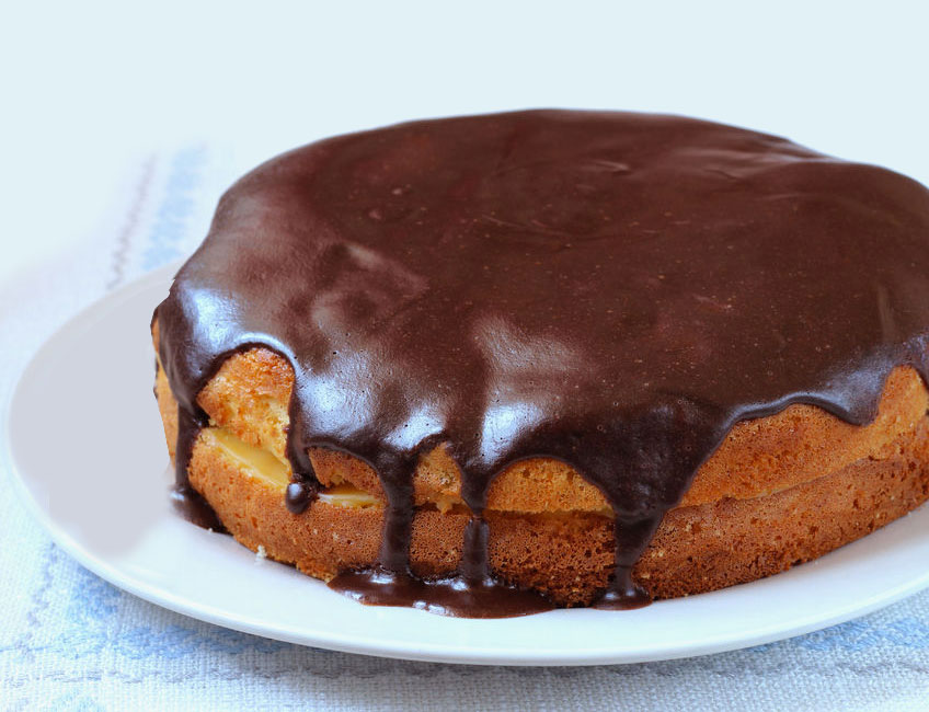receta boston cream pie