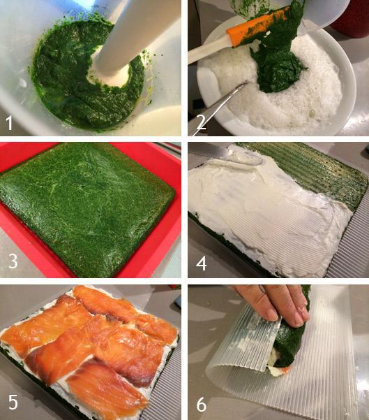 brazo gitano de espinacas y salmon