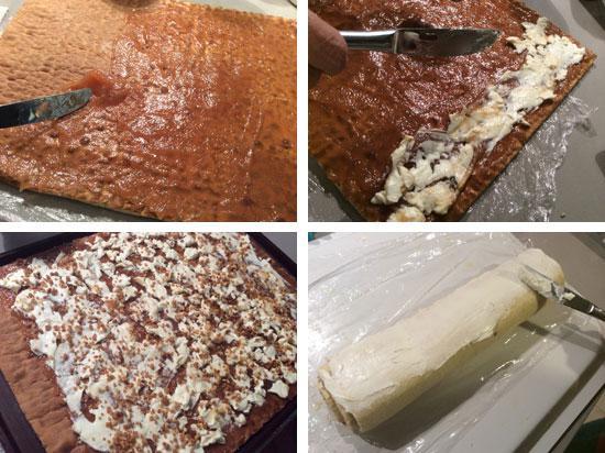 receta de brazo de gitano de queso y membrillo