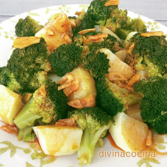brócoli con patatas al ajoarriero