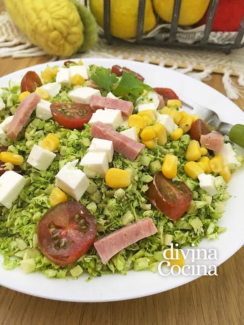 ensalada de brocoli fresco