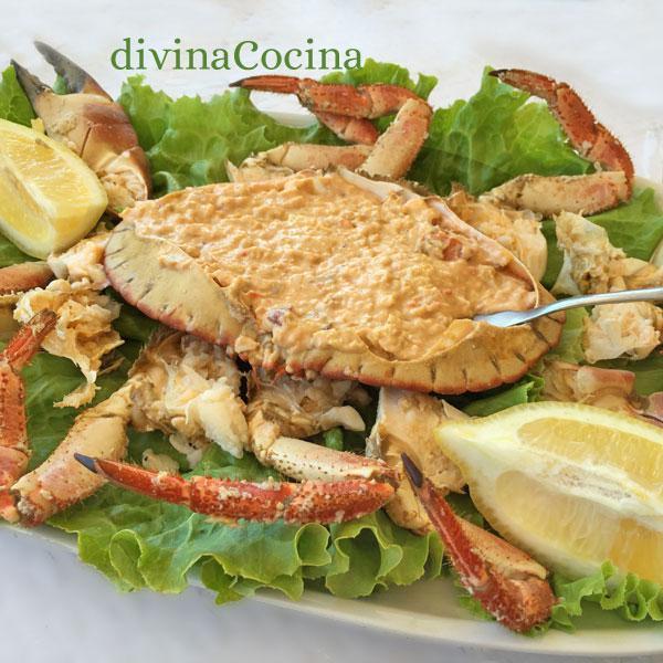 receta de buey de mar relleno