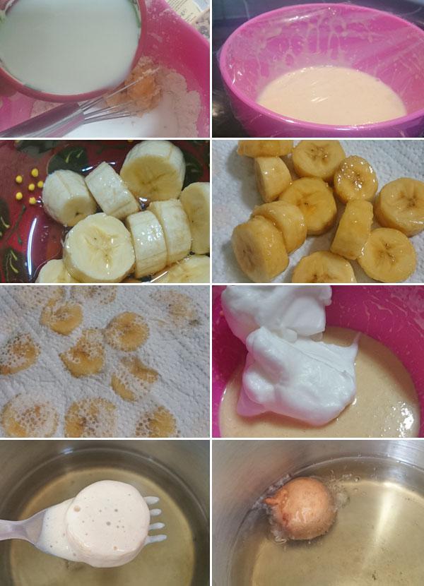 buñuelos de plátano paso a paso