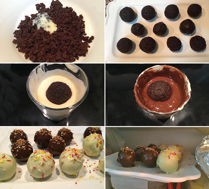 cake pops de chocolate paso a paso