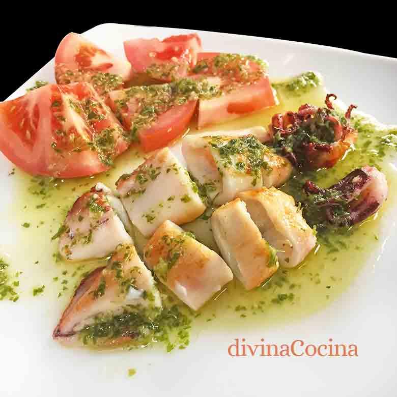 Receta De Calamar A La Plancha Divina Cocina