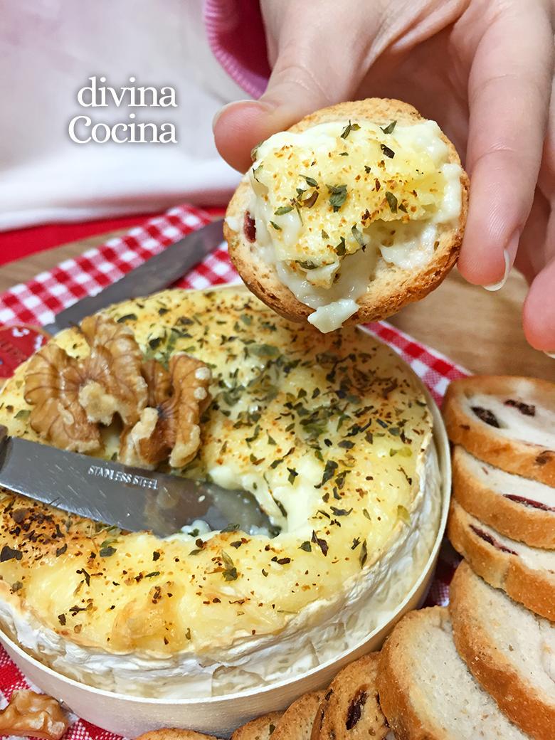 receta de queso camembert al horno
