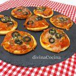 Canapés de pizza