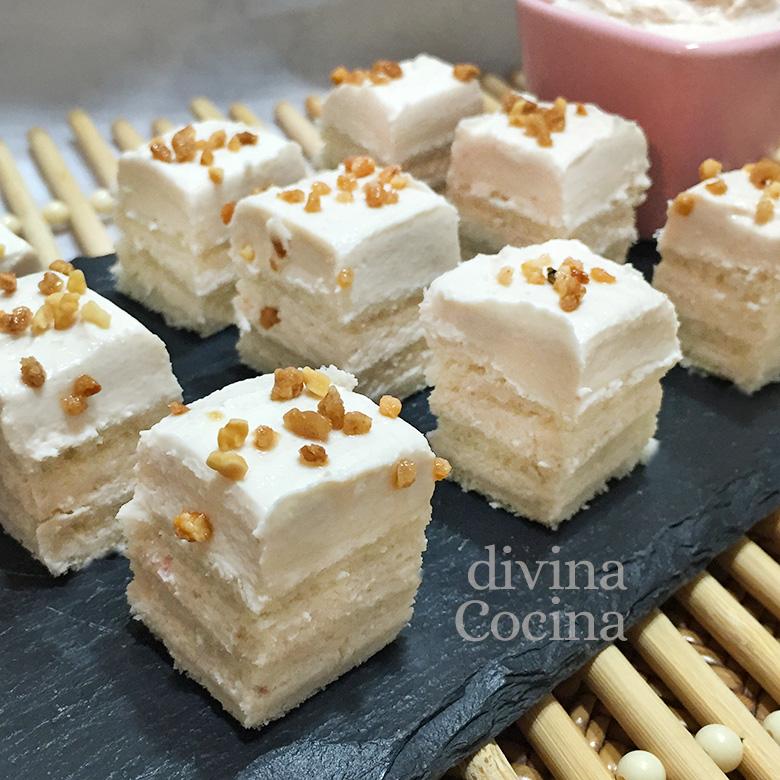 canapes crema de atun y queso crema pan de molde