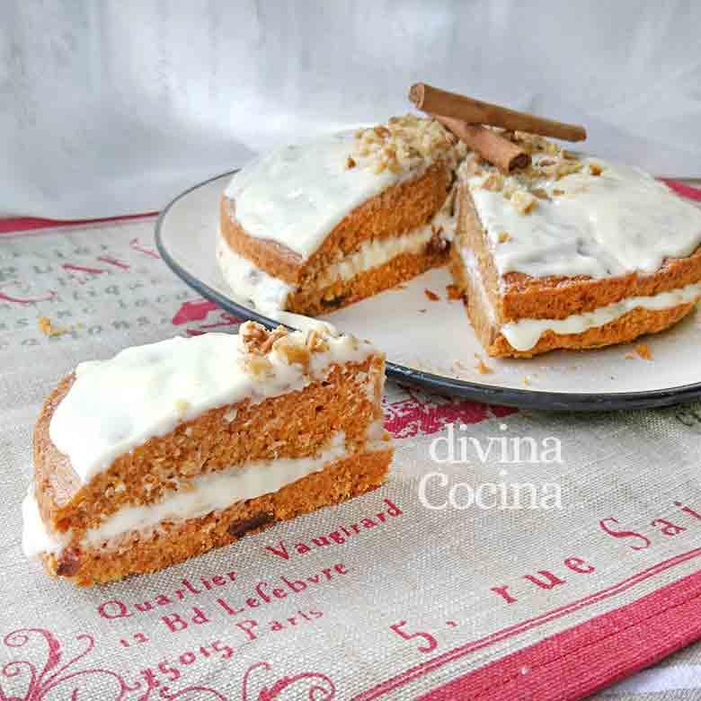 receta tarta de zanahorias