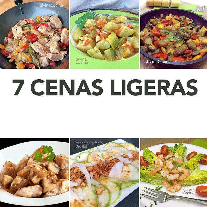 7 Cenas Ligeras Fáciles Receta De Divina Cocina