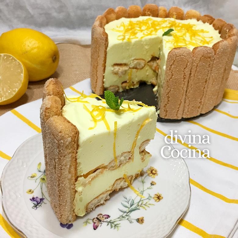 receta de charlota de limon