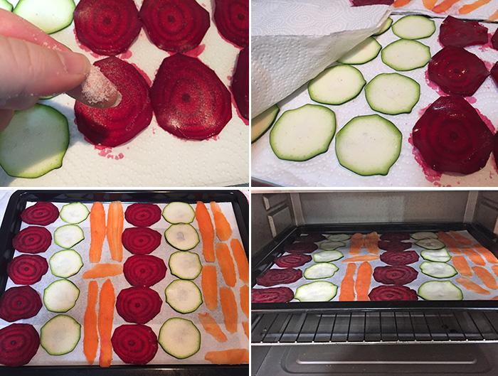 chips de verdura paso a paso