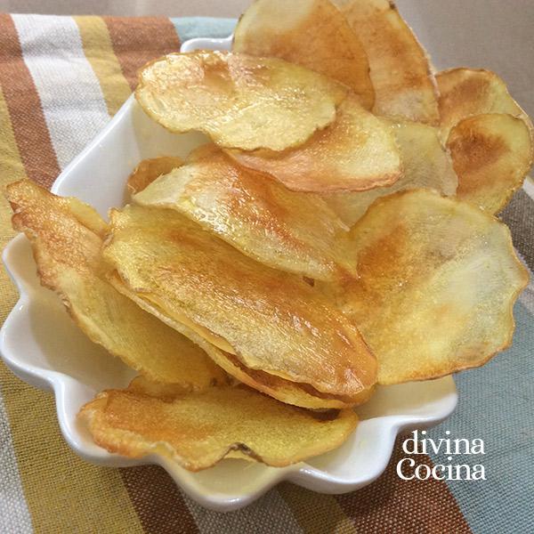 patatas chips en el microondas