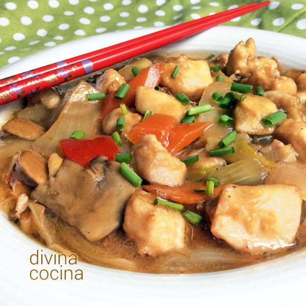 chop suey de pollo