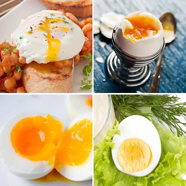 Grados de cocción de los huevos