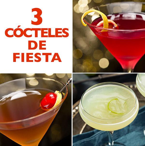 3 cócteles de fiesta