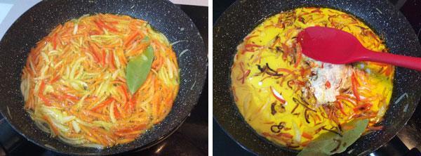 coliflor al curry paso a paso