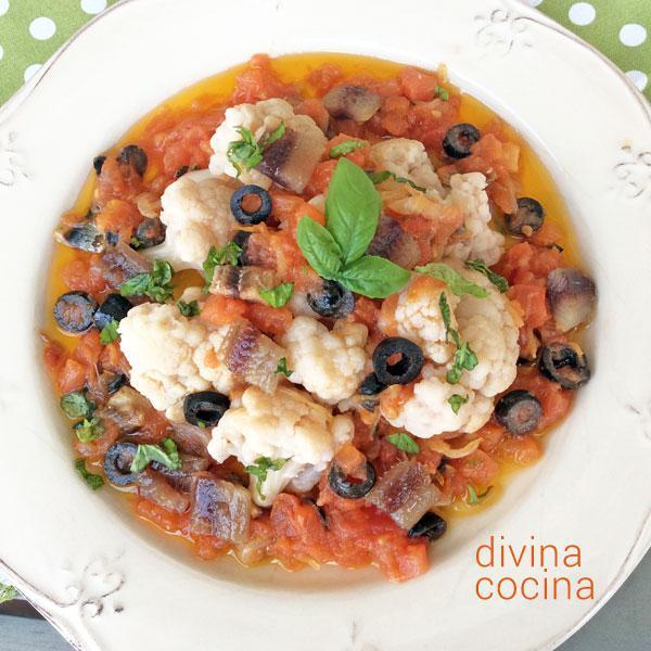 coliflor en salsa italiana
