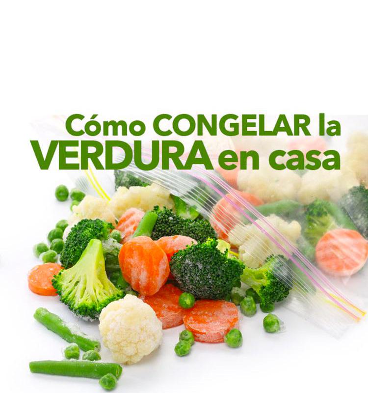 Como congelar la verdura en casa