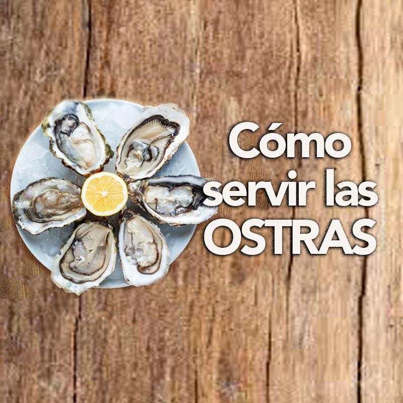 como servir las ostras
