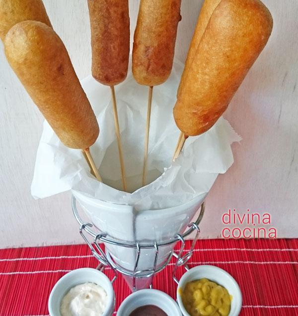 Receta corn dog