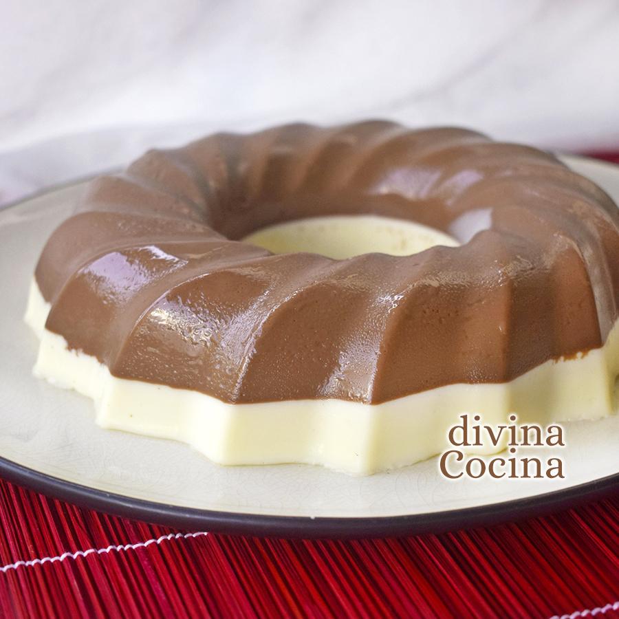 receta corona chocolate blanco negro
