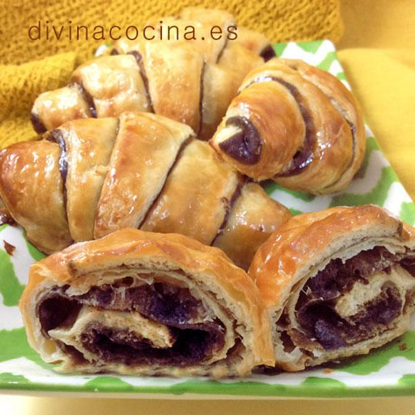 croissants de chocolate