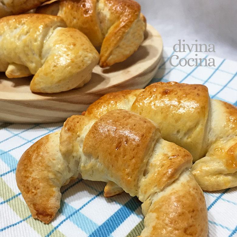 croissants de masa casera