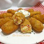 Croquetas de patata, jamón serrano y queso